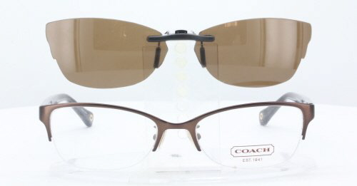 Co Sunglasses Clip On  coach prescription rx sunglasses clip on co hc5046 52x18