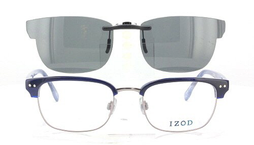 Glasses Frames With Clip On Sunglasses  izod prescription rx sunglasses clip on iz iz431 51x19