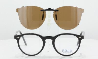 e32c61d2 Polo Ralph Lauren 2083-46X20-T Polarized Clip-On Sunglasses