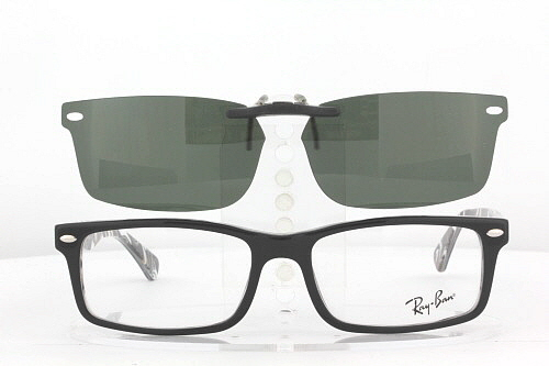Eyeglasses With Magnetic Sunglass  ray ban prescription rx sunglasses clip on rb 5162 52x16 f