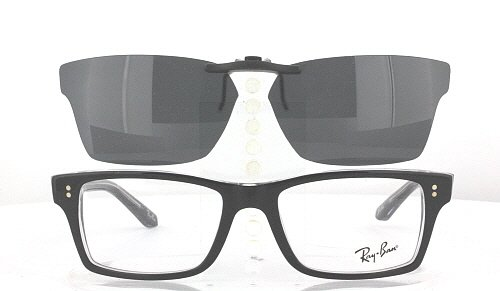 compatible with ray ban 5225 52x17 polarized clip on sunglasses