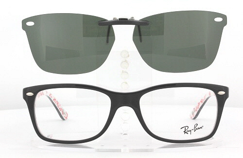 Ray Ban Clip On Sunglasses  ray ban prescription rx sunglasses clip on rb 5228 55x17