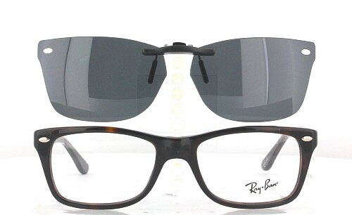 Ray Ban Clip On Sunglasses  ray ban prescription rx sunglasses clip on rb rb5228 50x17
