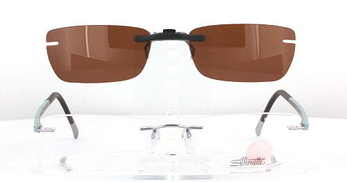 Silhouette Clip On Sunglasses  silhouette prescription rx sunglasses clip on sh 6696 51x17