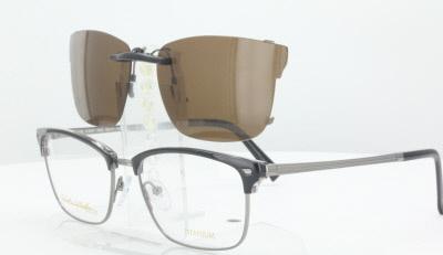 0a6a986e8e STEPPER E9767-54X17-TAB Polarized Clip-On Sunglasses