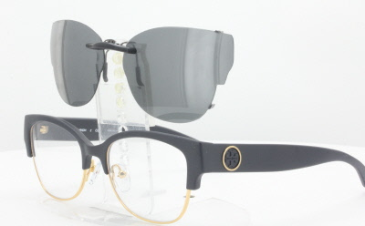 aae115b112 Tory Burch TY4001-52X18-TAB Polarized Clip-On Sunglasses